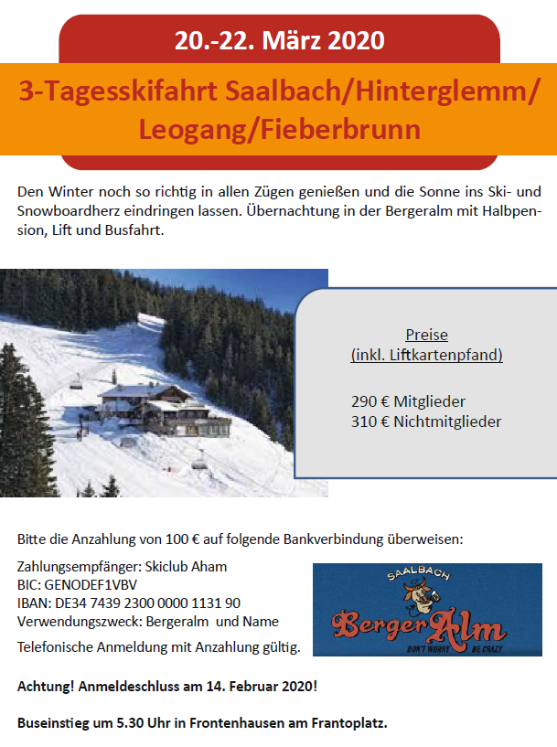 3 tage 20 22 03 Saalbach Hinterglemm Loegang Fieberbrunn